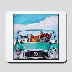 3 Cats In A Nash Metro Mousepad