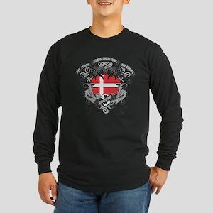 Denmark Soccer Long Sleeve Dark T-Shirt