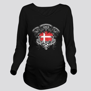 Denmark Soccer Long Sleeve Maternity T-Shirt