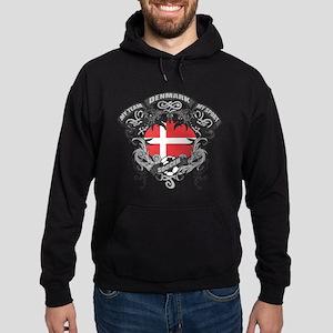 Denmark Soccer Hoodie (dark)