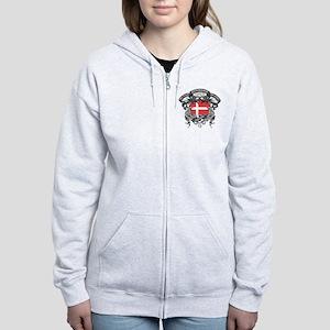 Denmark Soccer Women's Zip Hoodie