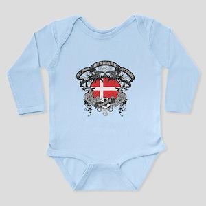 Denmark Soccer Long Sleeve Infant Bodysuit