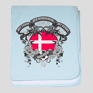 Denmark Soccer baby blanket