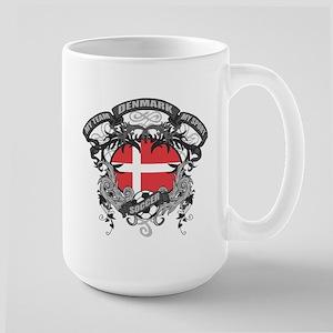 Denmark Soccer Large Mug