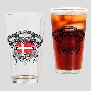 Denmark Soccer Drinking Glass