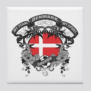Denmark Soccer Tile Coaster