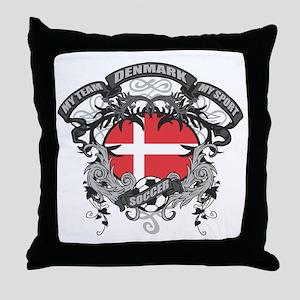 Denmark Soccer Throw Pillow