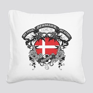 Denmark Soccer Square Canvas Pillow