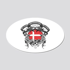 Denmark Soccer 20x12 Oval Wall Decal