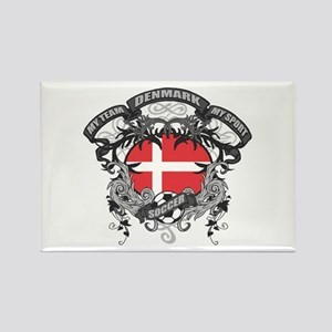 Denmark Soccer Rectangle Magnet