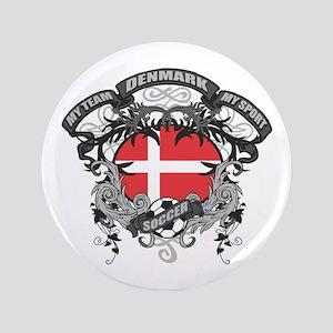 """Denmark Soccer 3.5"""" Button"""