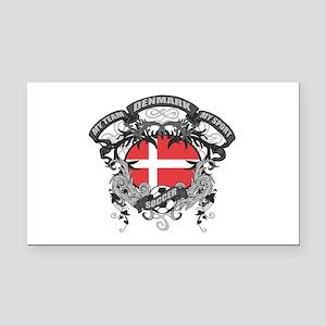 Denmark Soccer Rectangle Car Magnet
