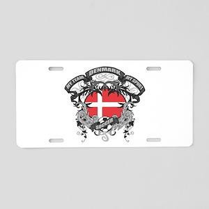 Denmark Soccer Aluminum License Plate