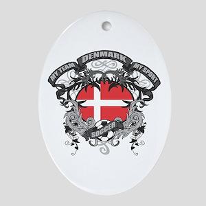 Denmark Soccer Ornament (Oval)