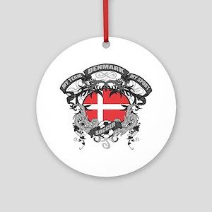 Denmark Soccer Ornament (Round)