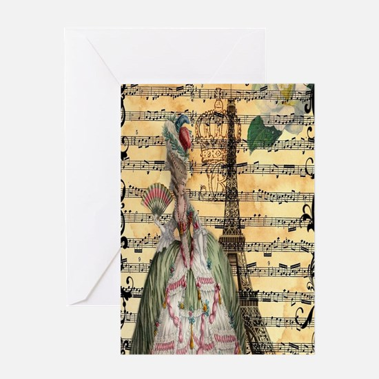 marie antoinette paris eiffel tower  Greeting Card