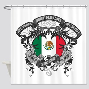 Mexico Soccer Shower Curtain