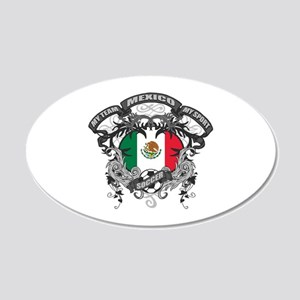 Mexico Soccer 20x12 Oval Wall Decal