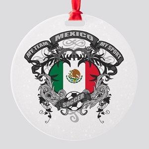 Mexico Soccer Round Ornament