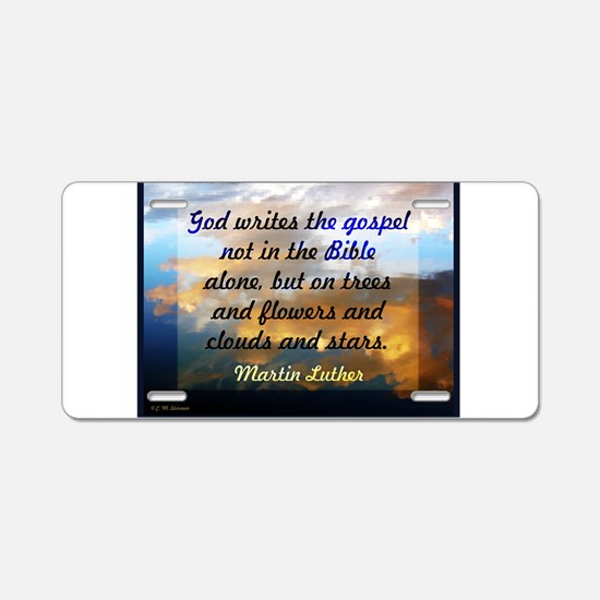 Martin Luther on nature Aluminum License Plate