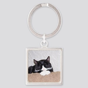 Sweet Kitty Square Keychain
