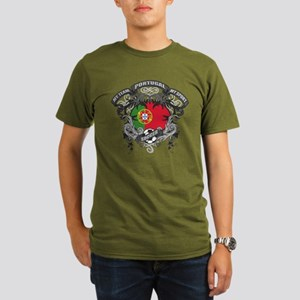 Portugal Soccer Organic Men's T-Shirt (dark)