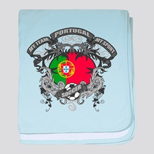Portugal Soccer baby blanket