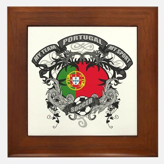 Portugal Soccer Framed Tile