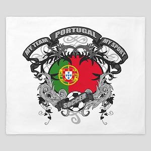 Portugal Soccer King Duvet