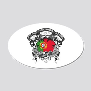 Portugal Soccer 20x12 Oval Wall Decal