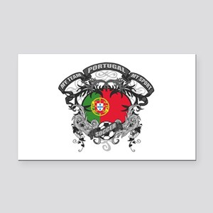 Portugal Soccer Rectangle Car Magnet