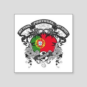 """Portugal Soccer Square Sticker 3"""" x 3"""""""