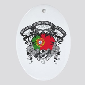 Portugal Soccer Ornament (Oval)