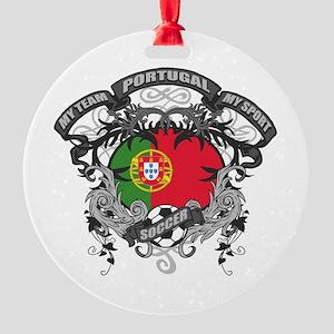 Portugal Soccer Round Ornament
