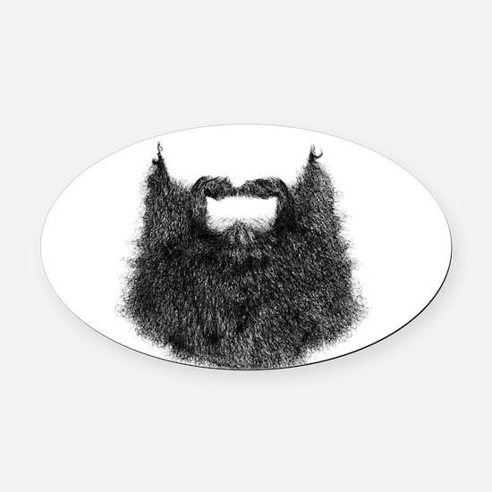 Big Beard Oval Car Magnet