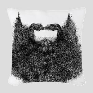 Big Beard Woven Throw Pillow