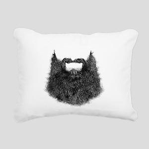 Big Beard Rectangular Canvas Pillow