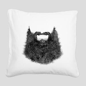 Big Beard Square Canvas Pillow