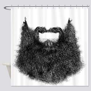 Big Beard Shower Curtain