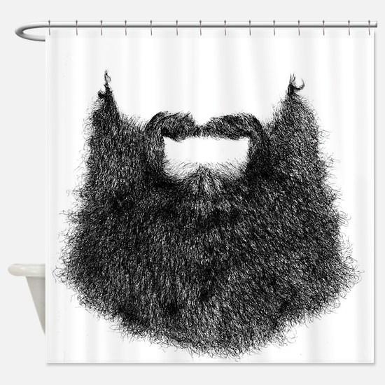 Big Beard Shower Curtain