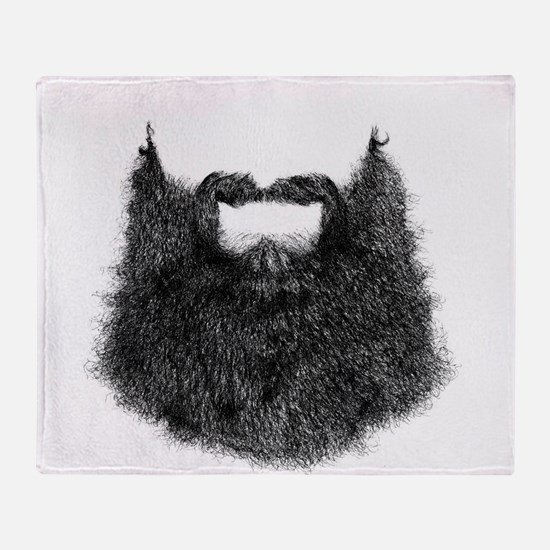 Big Beard Throw Blanket
