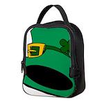 Leprechaun Hat with Shamrock Neoprene Lunch Bag