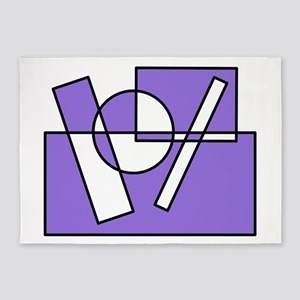 Colors Squares Circle Design #1 (purple) 5'x7'Area