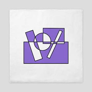 Colors Squares Circle Design #1 (purple) Queen Duv