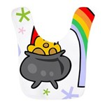 Rainbow with Crock of Gold Bib
