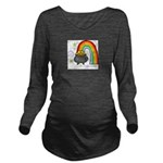 Rainbow with Crock of Gold Long Sleeve Maternity T