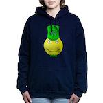 Smiley with Shamrock Women's Hooded Sweatshirt