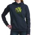 St Patricks Day Man with Beer Women's Hooded Sweat