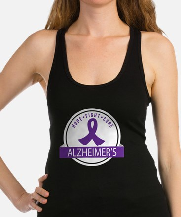 Alzheimers Hope Fight Cure Racerback Tank Top