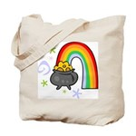 Rainbow with Crock of Gold Tote Bag
